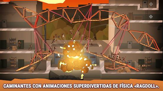Descarga Bridge Constructor The Walking Dead MOD APK Desbloqueado para Android Gratis 2