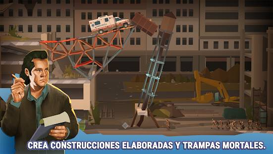 Descarga Bridge Constructor The Walking Dead MOD APK Desbloqueado para Android Gratis 3