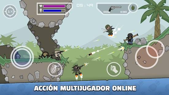Descarga Mini Militia Doodle Army 2 MOD APK con Granadas Infinitas para Android Gratis