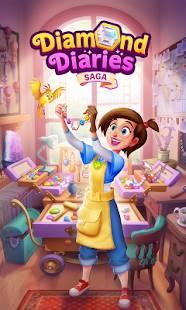 Descarga Diamond Diaries Saga MOD APK con Vidas Infinitas y Panel de trucos para Android Gratis 5