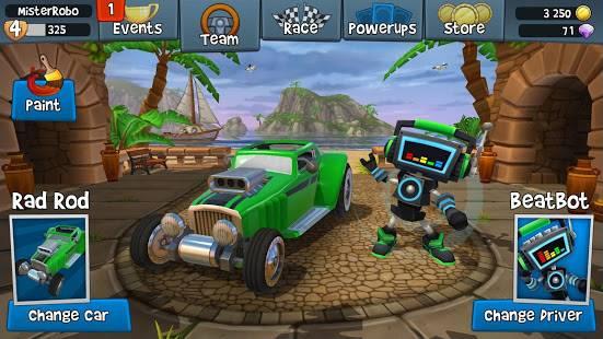 Descarga Beach Buggy Racing 2 MOD APK con Dinero Infinito para Android Gratis 3