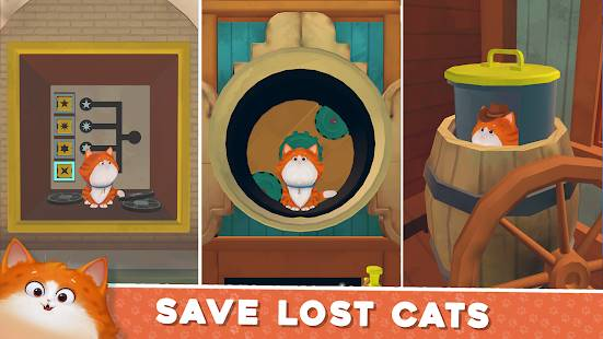 Descarga Cats in Time MOD APK con Todos los niveles desbloqueados para Android Gratis 3