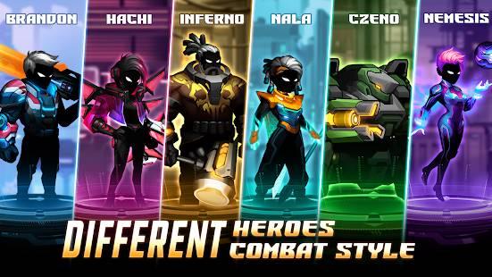 Descarga Cyber Fighters MOD APK con Oro, Almas y Estamina Infinitos Gratis para Android