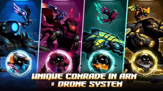 Descarga Cyber Fighters MOD APK con Oro, Almas y Estamina Infinitos Gratis para Android 8