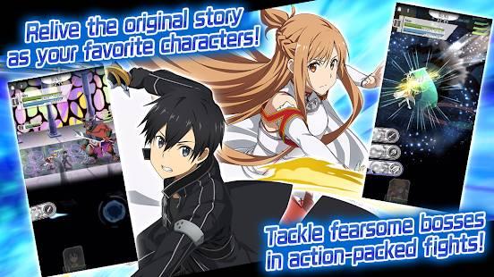 Descarga SWORD ART ONLINE Memory Defrag MOD APK con Modo Dios y Mana Infinito Gratis para Android
