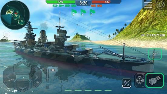 Descarga Warships Universe: Naval Battle MOD APK con Compras Gratis para Android 2