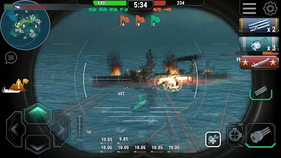 Descarga Warships Universe: Naval Battle MOD APK con Compras Gratis para Android 3