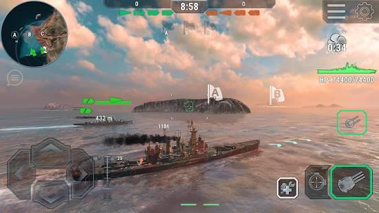 Descarga Warships Universe: Naval Battle MOD APK con Compras Gratis para Android 4