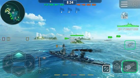 Descarga Warships Universe: Naval Battle MOD APK con Compras Gratis para Android 5